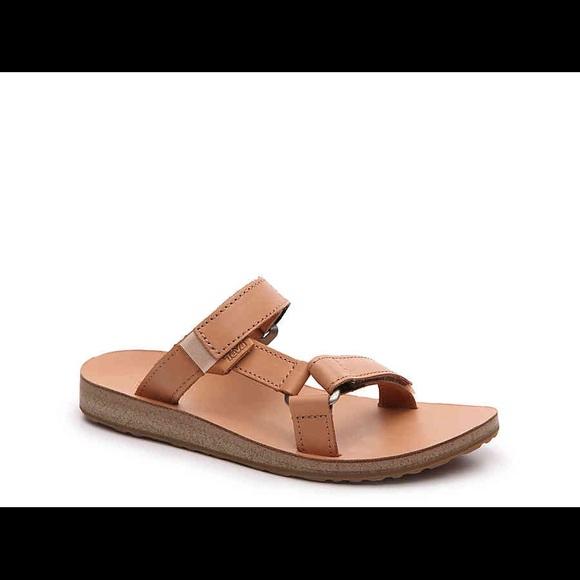 cad83b6e1 Teva Universal Tan Leather Slide Sandal
